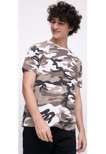 Camiseta Com Estampa Camuflada