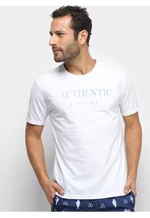 Camiseta Aleatory Authentic Masculina - Masculino-Branco