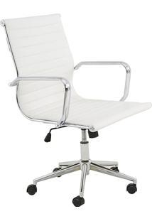 Cadeira Baixa Oficce Pu Sevilha -Rivatti - Branco