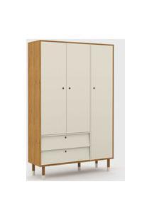 Roupeiro 3 Portas Up Freijó/Off White/Eco Wood Matic Móveis
