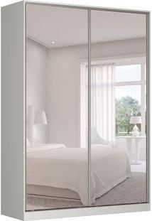 Guarda-Roupa Solteiro Com Espelho Tunas Ii 2 Pt 3 Gv Branco