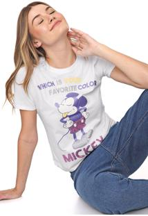 Blusa Cativa Disney Paetês Mickey Branca