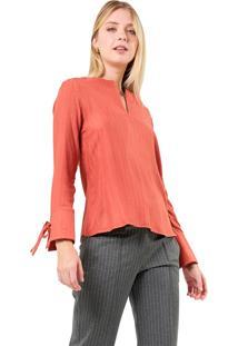 Blusa Mx Fashion Viscose Clea Ferrugem