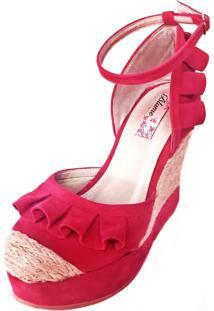 Sandália Blume Calçados Butterfly Rosa