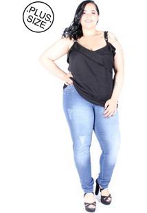 Calã§A Jeans Saint Yves Vgi Cropped Plus Size Mix Jeans - Azul - Feminino - Dafiti