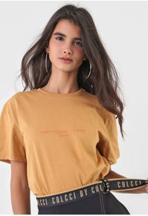 Camiseta Colcci Lettering Caramelo - Kanui