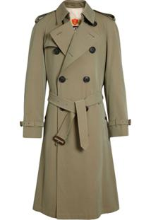 Burberry Tropical Gabardine Oversized Trench Coat - Verde