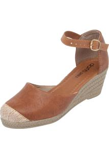 Scarpin Dafiti Shoes Anabela Marrom