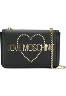 Love Moschino Bolsa Tiracolo Com Detalhe De Tachas - Preto