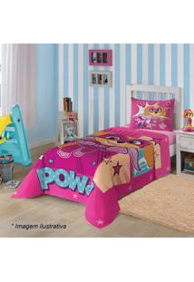 Lepper Jogo De Cama Patrulha Caninaâ® Solteiro Pink & Azul 2Pã§S