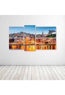 Quadro Decorativo - Ortugal Houses Megapolis Clouds Lisbon - Composto De 5 Quadros