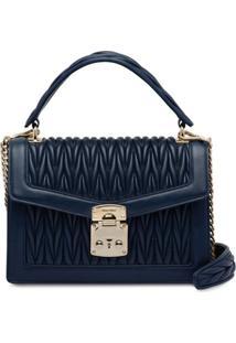 Miu Miu Confidential Matelassé Leather Bag - Azul