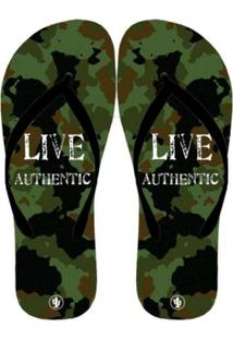 Chinelo Live Militar - Masculino