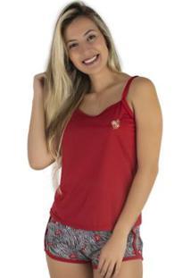 Pijama Mvb Modas Blusinha Alça E Short Curto Feminino - Feminino