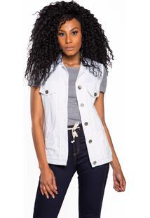 Colete Jeans Aero Jeans Branco - Kanui