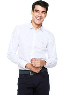 Camisa Aramis Manga Longa Slim Menswear Branca