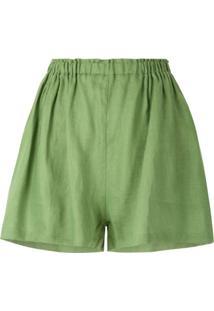 Clube Bossa Short Mandoline Franzido - Verde