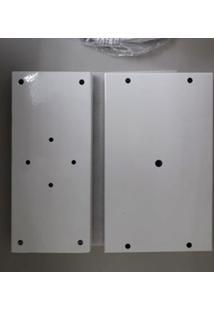 Pendente Retangular Tualux De Alumínio Cabo Ajustável De 1,5M Branco