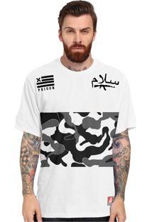 Camiseta Prison Camuflada Big War Branca