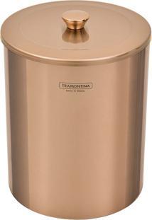 Lixeira Inox Polido Rose Gold 5L - 94540/053 - Tramontina - Tramontina