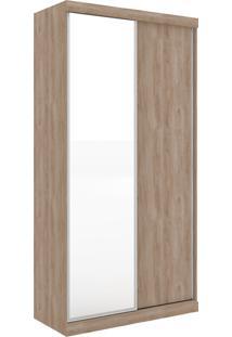 Guarda-Roupa Virtual 1,20 Com 2 Portas De Correr Com Espelho Cedro Robel