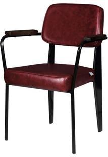 Cadeira Jean Provve Estofada C/ Braco Vermelha 81 Cm (Alt) - 47261 Sun House