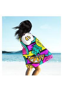 Toalha De Praia / Banho Multi Happy Color Único