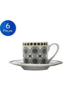 Conjunto De Xícaras Para Café 6 Peças 90 Ml Kaleidoscope-Bon Gourmet - Preto