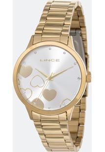 Kit Relógio Feminino Lince Lrgh078L Kv26S1Kx Analógico 5Atm + Conjunto Semijóia