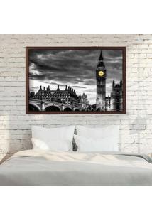 Quadro Love Decor Com Moldura London Madeira Escura Médio