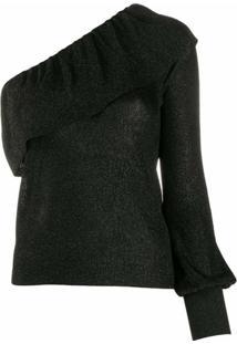 Redvalentino Blusa Ombro Único - Preto