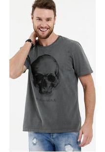 Camiseta Masculina Estampa Caveira Manga Curta Mr