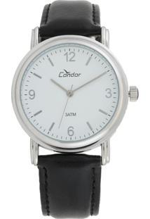 Relógio Condor Co2035Af/3B Prata/Preto