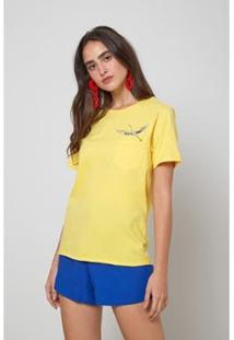 Blusa Oh, Boy! Bolso Bordado Garca Feminina - Feminino