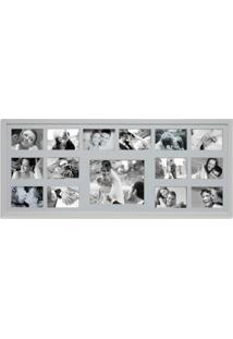 Painel Bee Collection 14 Fotos 10X15Cm E 1 Foto 20X25Cm 43X103Cm Branco Kapos