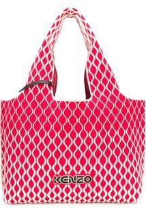 Kenzo Bolsa Tiracolo Oversized - Vermelho