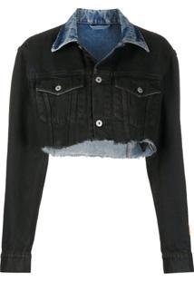 Heron Preston Cropped Denim Jacket - Azul