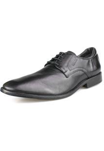 Sapato Social Couro Amarração Confort Preto Perlatto