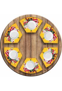 Jogo Americano Love Decor Para Mesa Redonda Wevans Cute Noel Yellow Kit Com 6 Pçs - Kanui