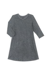 Vestido Plus Size De Molecotton Rovitex Plus Cinza