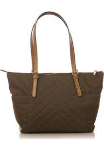 Bolsa Couro Blue Bags Nylon Matelassê Feminina - Feminino-Verde Militar