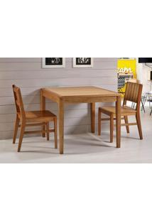 Conjunto Salvador 2 Cadeiras Eucalipto Cor Verniz Jatoba 90 Cm (Larg) - 45922 - Sun House