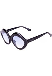Óculos De Sol Conbelive Gatinho Preto Lente Azul