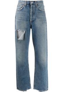 Agolde Calça Jeans Com Efeito Desbotado - Azul