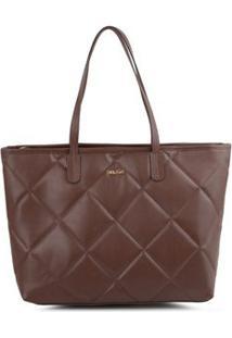 Bolsa Shopping Bag Matelassê Marrom - Marrom/Un