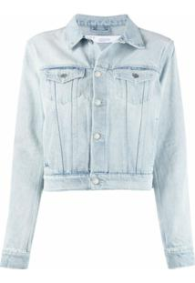Iro Jaqueta Jeans Cropped - Azul