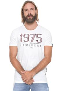 Camiseta Triton Faixas Laterais Off-White