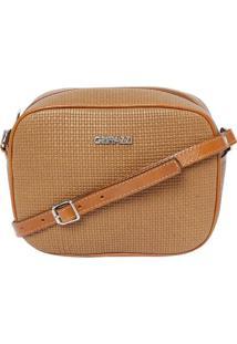 Bolsa Transversal Texturizada - Caramelo- 16X21X7Cgriffazzi
