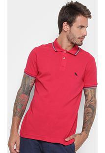 Camisa Polo Acostamento Masculina - Masculino-Vermelho