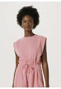 Blusa Básica Feminina Muscle Tee Rosa